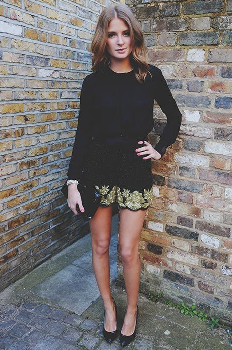 Millie Mackintosh Wearing Shorts From Virgos Lounge, Top From Nonoo, Shoes From Kurt Geiger And Bag From Aspinal
