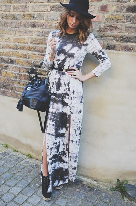 Millie Mackintosh Wearing Dress From MissGuided, Belt From Accessorize, Boots From Call It Spring, Bag From Aspinal And Hat From TopShop