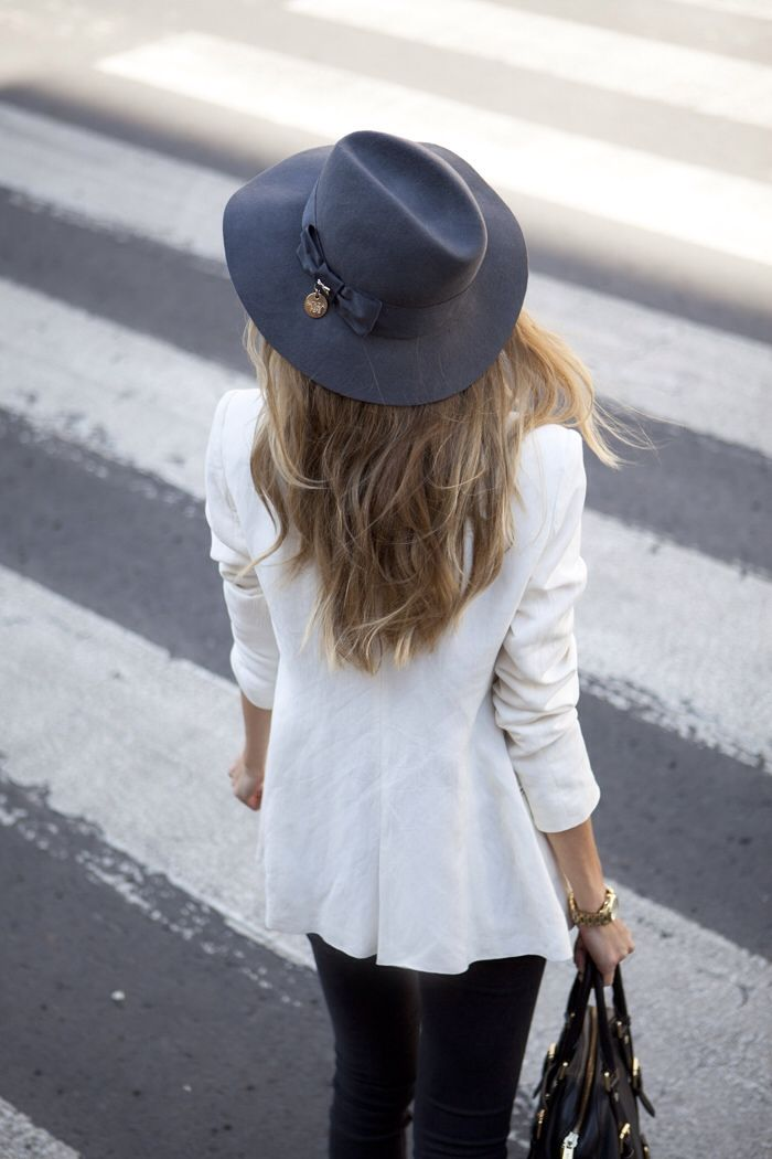 White Blazer And Hat Via They All Hate Us
