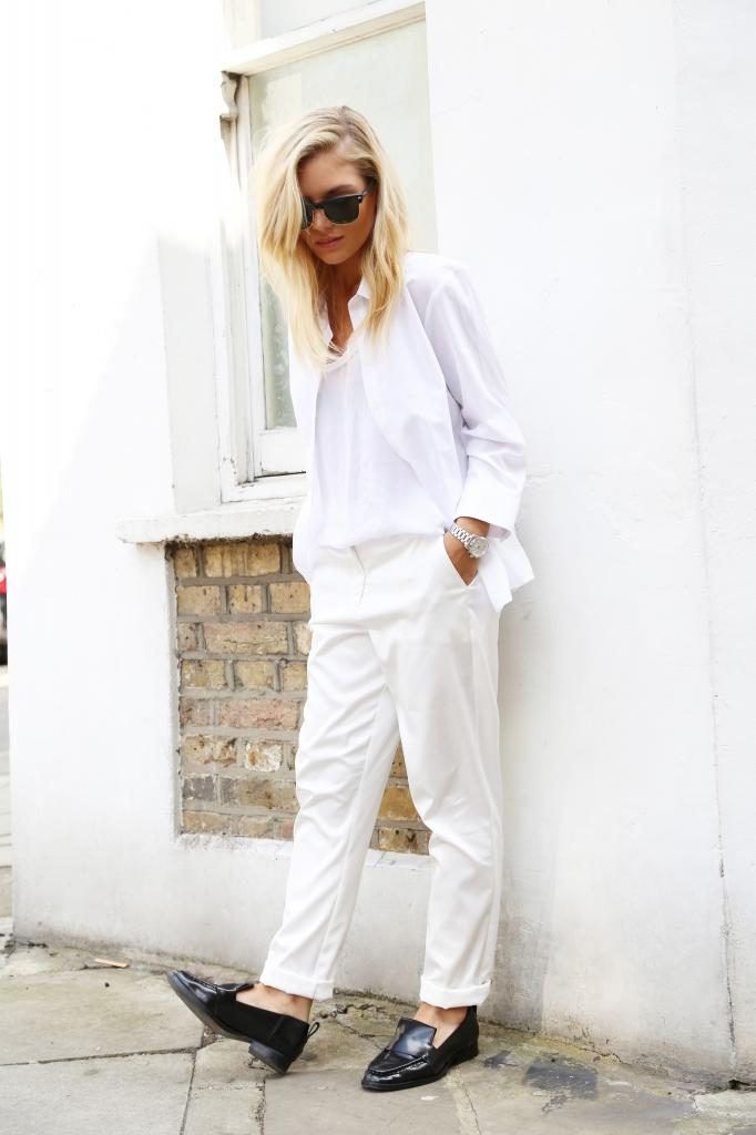 Isabella Thordsen is wearing white on white. All pieces are from ASOS