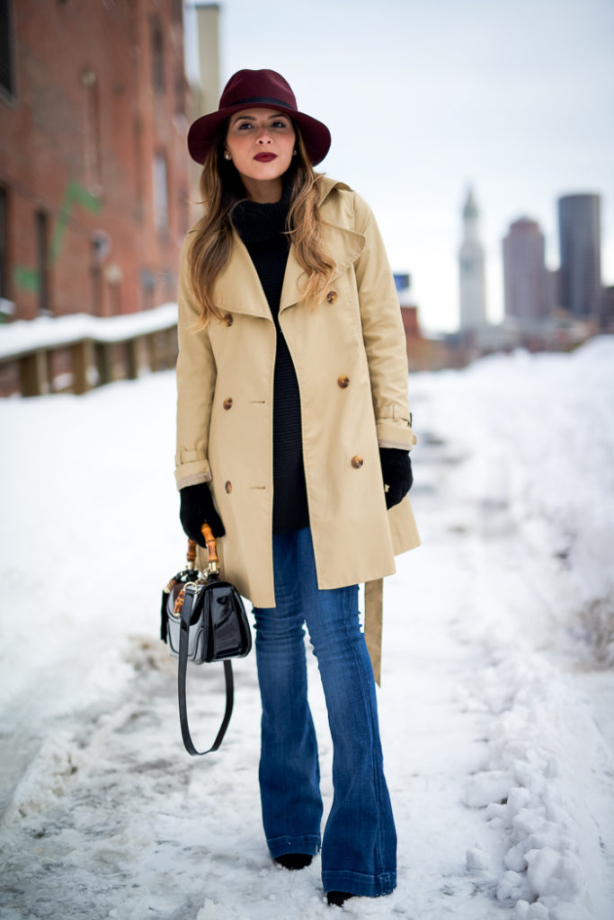 Flare Jeans Trend: Pam Hetlinger is wearing a Fiona flare jeans from Paige Denim
