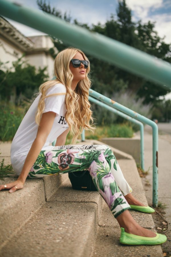 Feminine Floral Trousers/Leggings: Your Essential Fashion Choice For 2014
