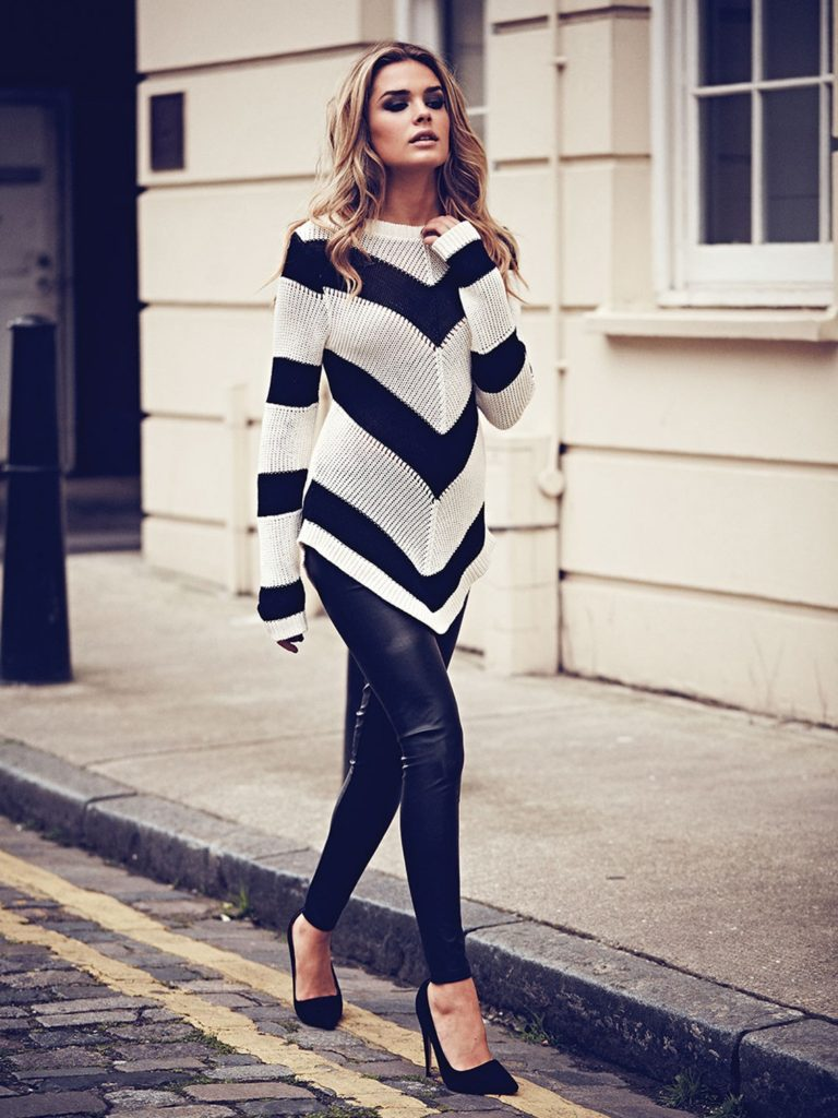 Chevron Stripe Jumper from Jane Norman