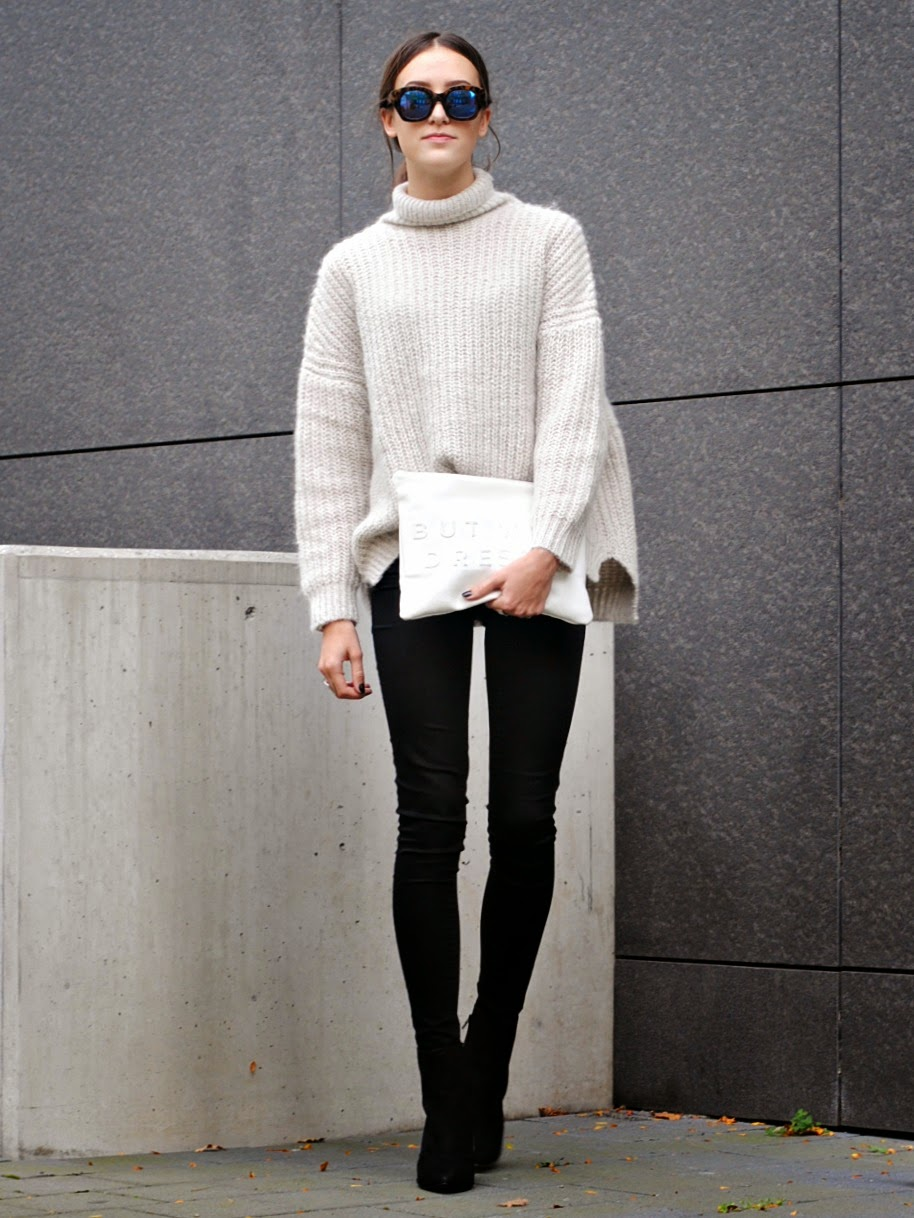 Sonja Rychkova is wearing knitwear from Zara