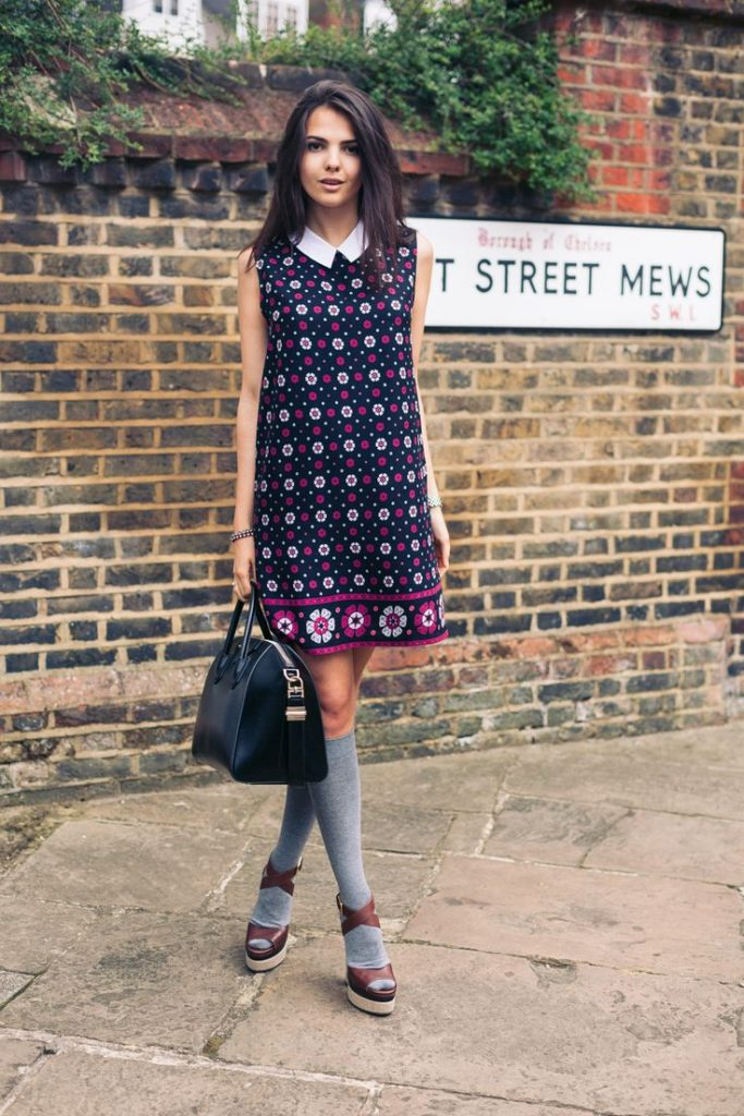 Mod Fashion 2014: Doina Ciobanu is wearing a mod floral slip dress from Yumi