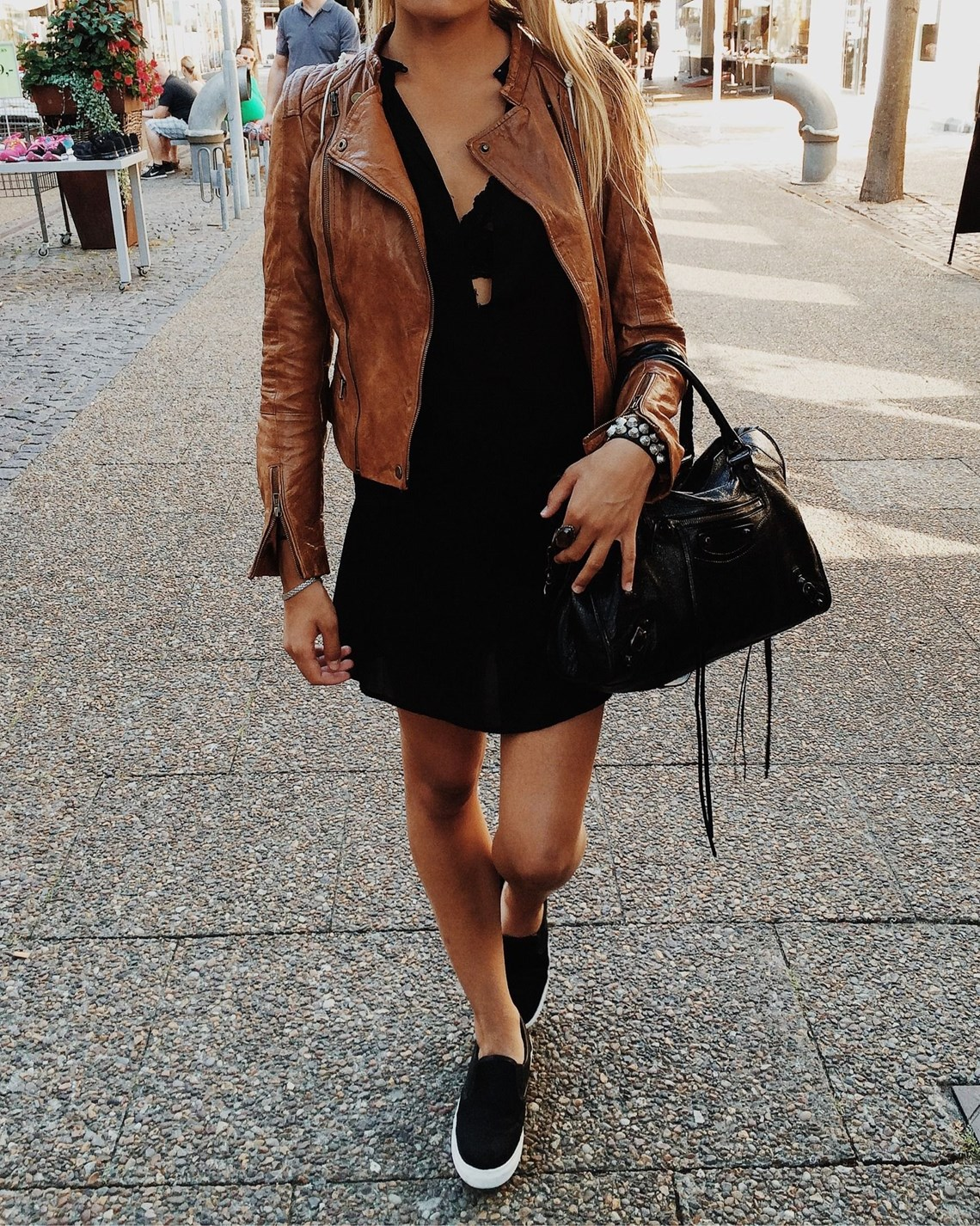 The Leather Jacket in Autumn