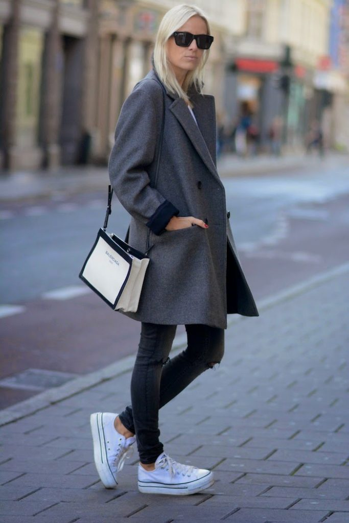Celine Aagaard  goes street style September 2014