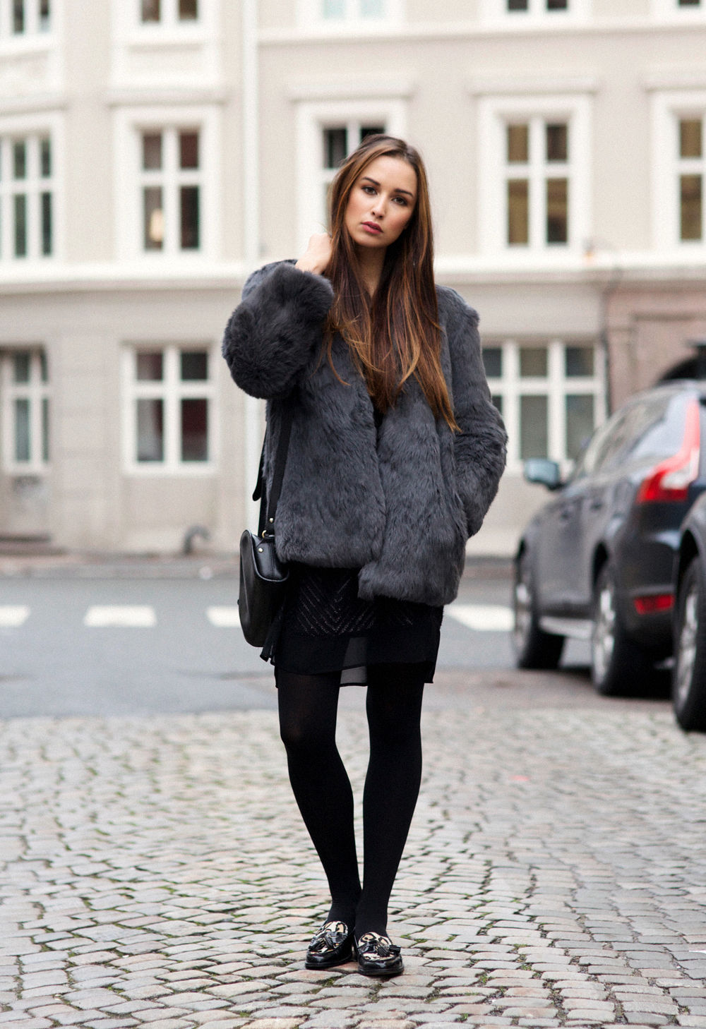 Fuzzy Black Sweater