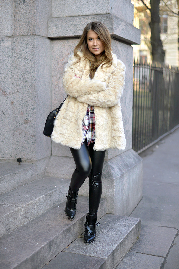 Fluffy Trend, 2014: Marianna Mäkelä is wearing a fluffy faux fur jacket from Zara