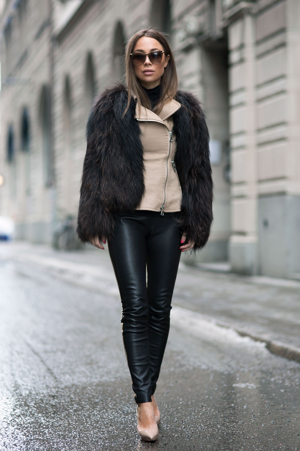 Faux Fur Trend: Johanna Olsson is wearing a faux fur coat from Isabel Marant
