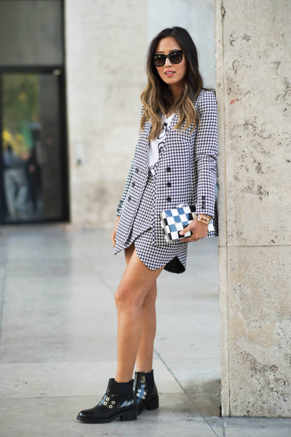 How To Wear The Houndstooth Pattern This Autumn