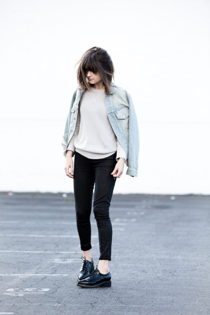 Rima Vaidila showing of the normcore fashion trend perfectly