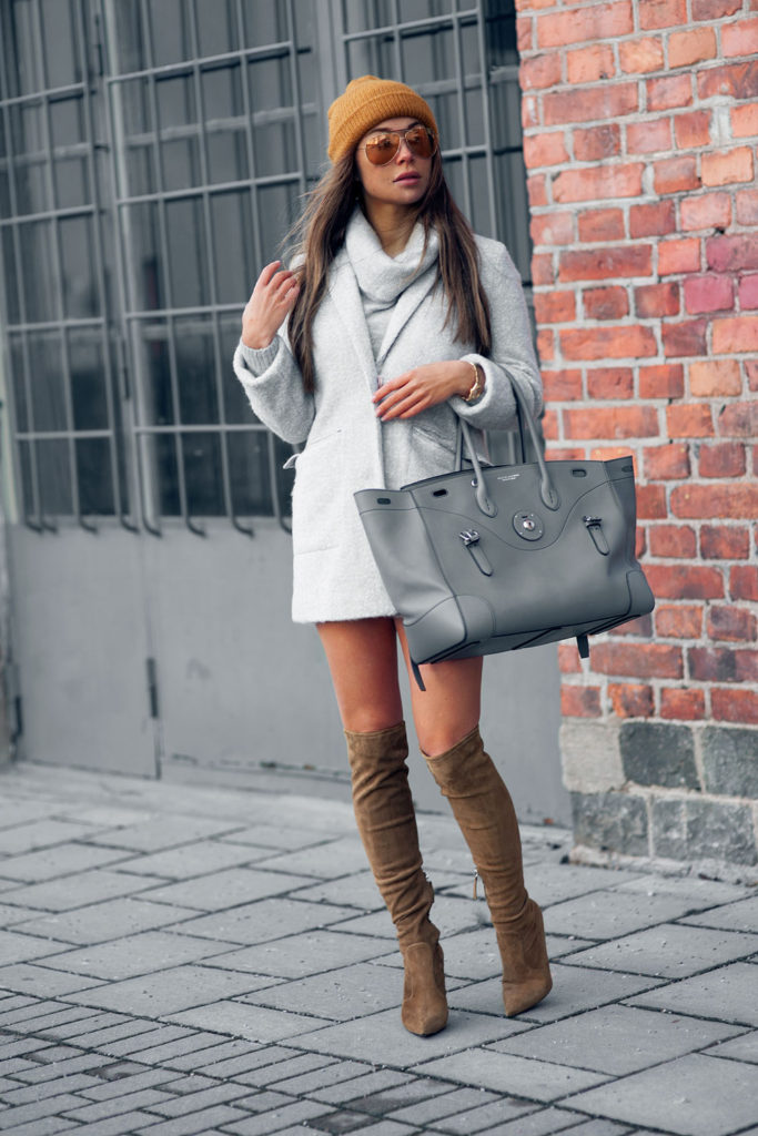 Thigh High Boots Trend: Johanna Olsson is wearing thigh high boots from Giuseppe Zanotti