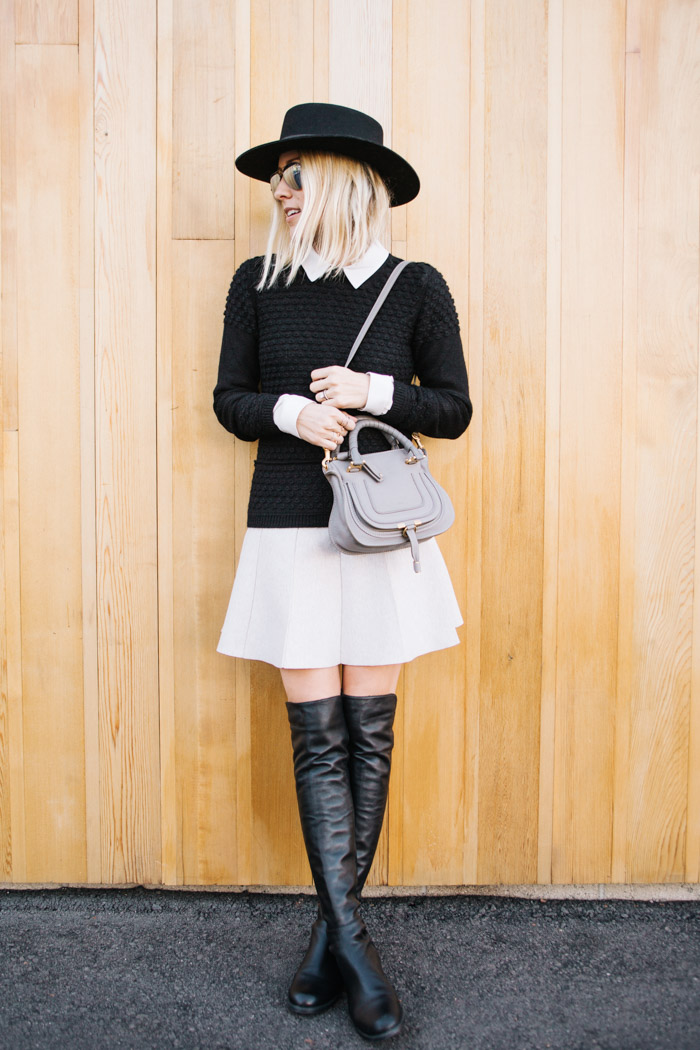 Over The Knee Boots Trend: Jacey Duprie is wearing the 5050 boots from Stuart Weitzman