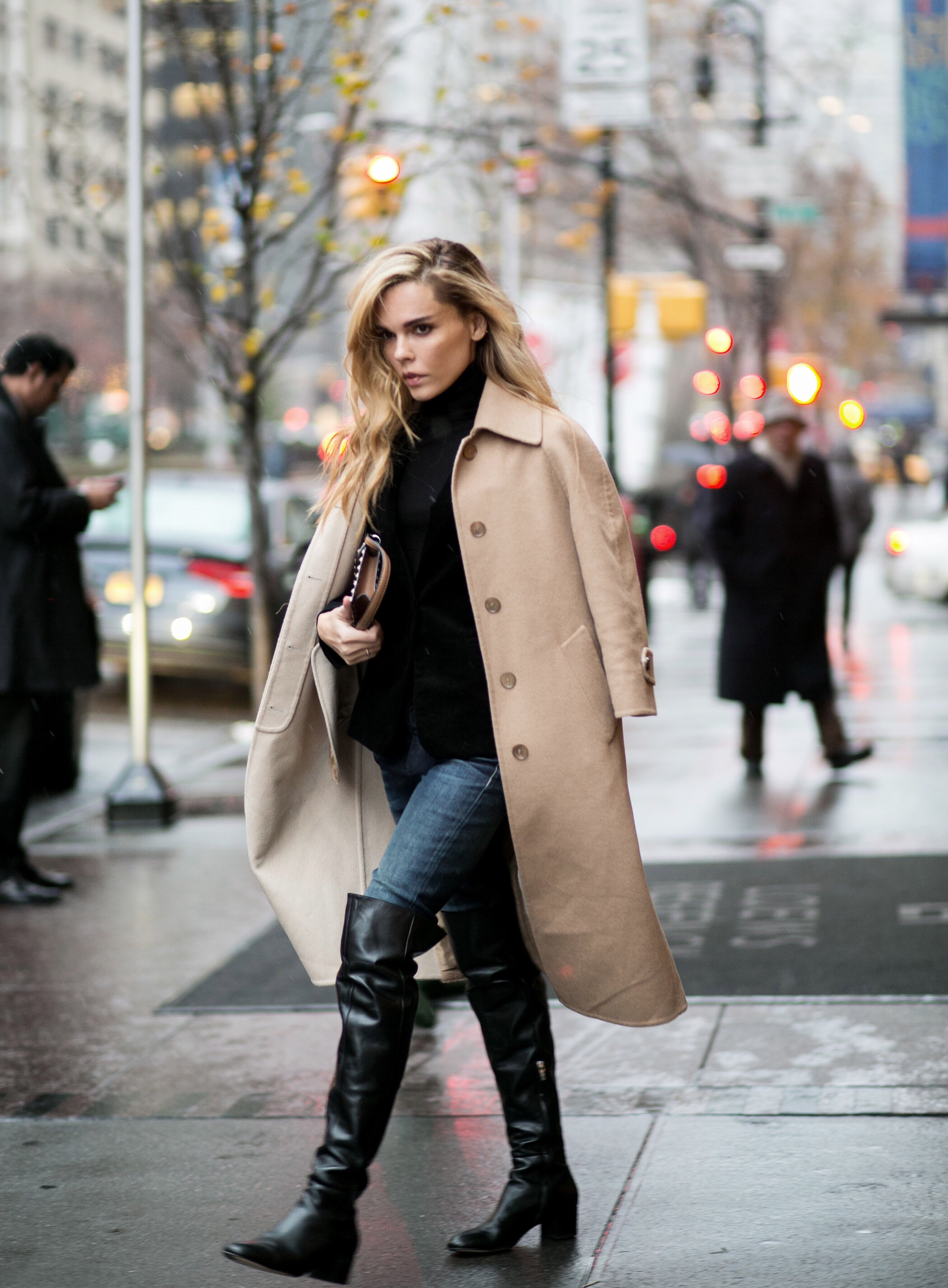 Dress Up Over The Knee Boots Trend: Evangelie Smyrniotaki is wearing boots from Gianvito Rossi