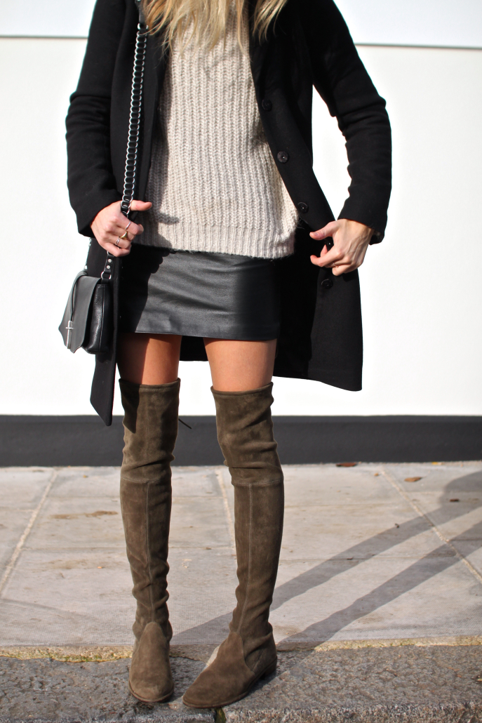 Over-The-Knee Boots Trend, 2014: Lucy Williams is wearing over the knee boots from Stuart Weitzman