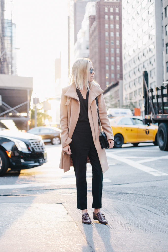 Love the camel coat from Zara and the loafers from J. Crew. Via Jacey Duprie