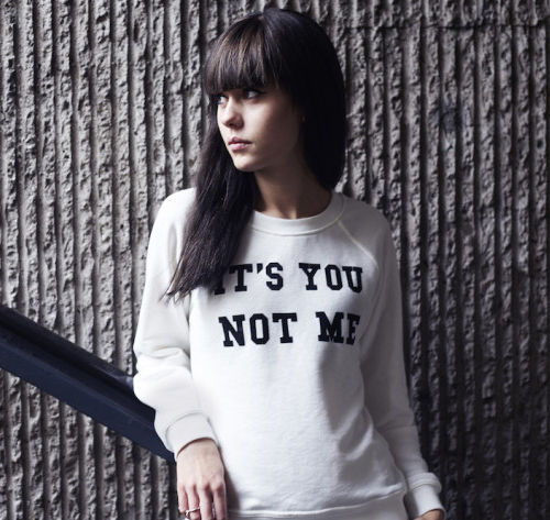 "Lovely by Lucy in an awesome ""It's You, Not Me"" sweatshirt from Blake Seven. What is there not to love?"