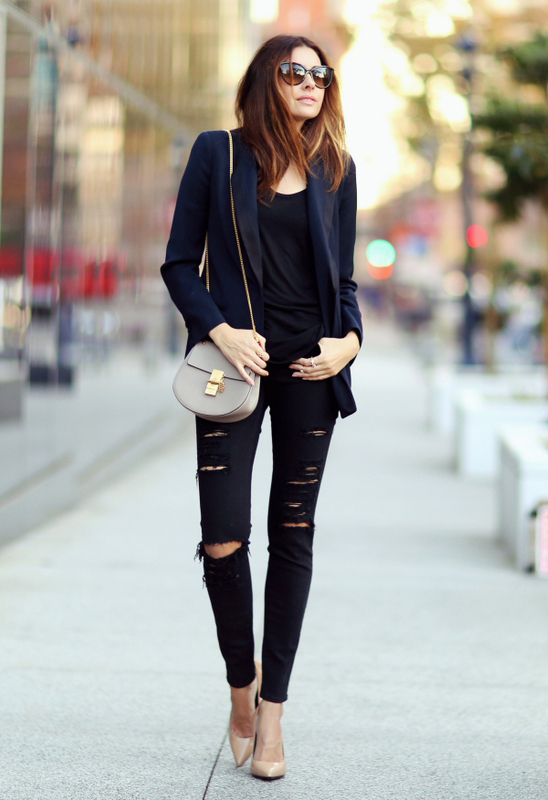 it is a musthave black ripped knee skinny jeans just