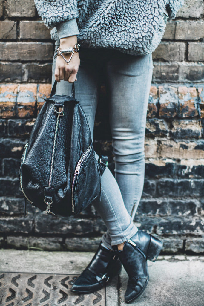 Backpack Trend: Mary Seng with her backpack from Rebecca Minkoff