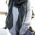 The featured photo comes courtesy of Elle UK:How To Wear An Oversized Scarf: May is wearing a scar from Zara