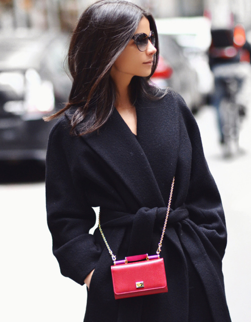 Lainy Hedaya with her mini bag from Dolce & Gabbana