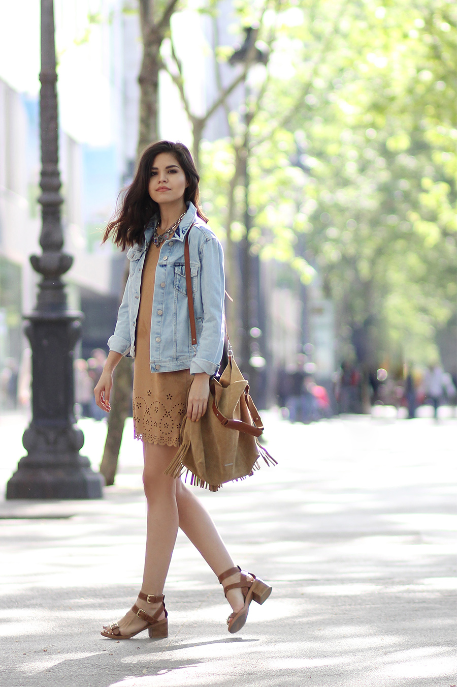 Fashion style Jacket fringe how to wear for woman