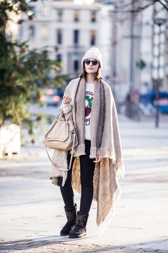 Paulien Riemis is wearing a blanket coat from Scapa Home