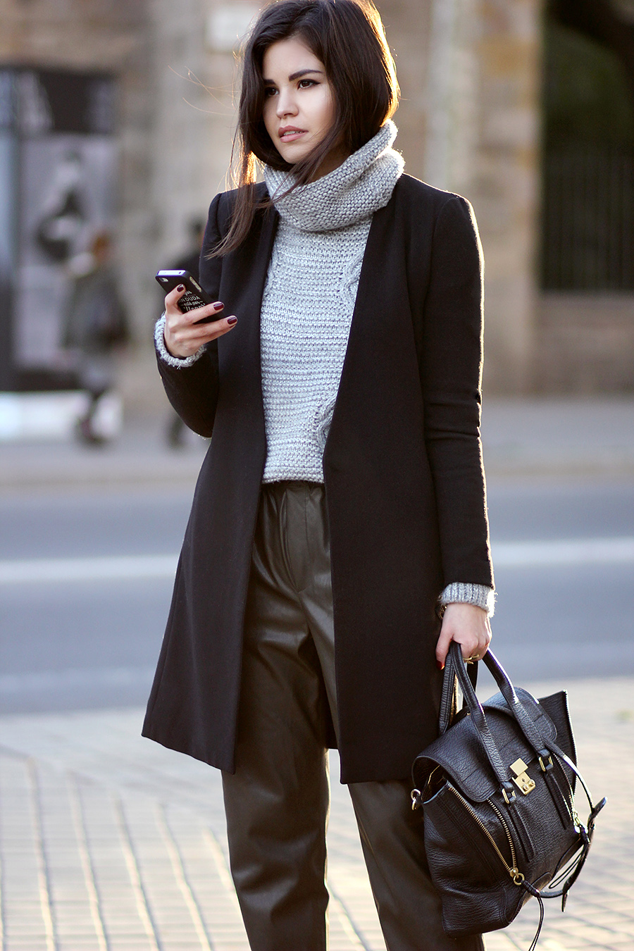 Just The Design: Adriana Gastélum is wearing a grey turtleneck sweater from Sheinside