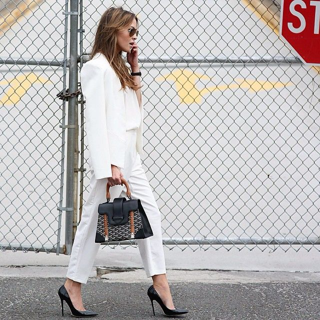 Bridget Bahl in all white Via our article on Instagram Fashion