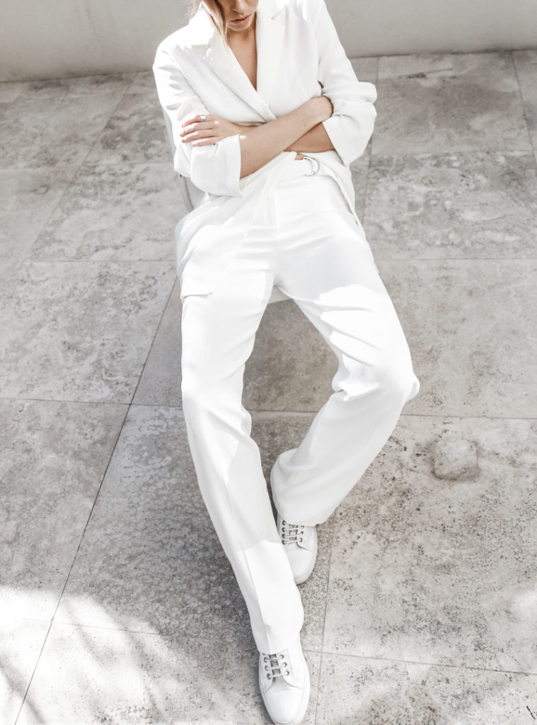 65. white outfits