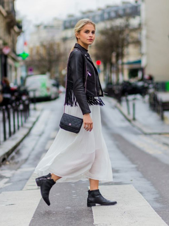 4ebbf88912f Caroline Daur has created another boho ensemble here by pairing a sheer maxi  skirt with a
