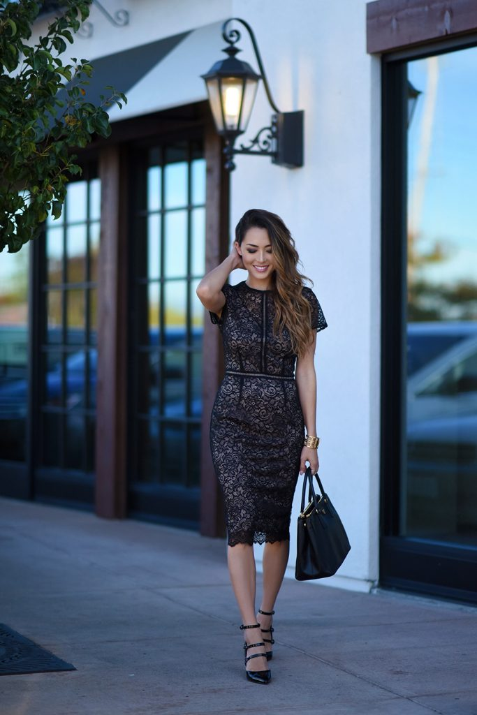 How To Wear A Lace Dress... This Is How It's Done - Just The Design