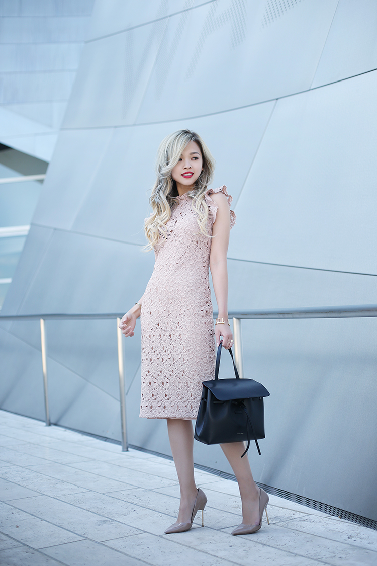 ec19783bc8 Wearing a blush pink lace dress is the ultimate way to display your  femininity and elegance
