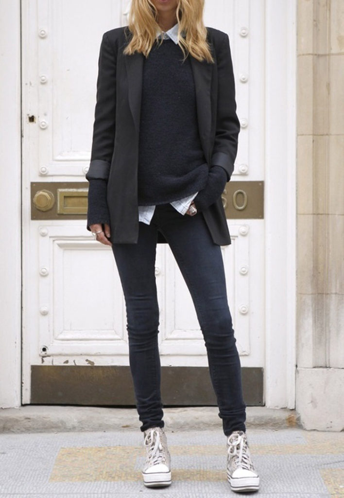 The is classic tomboy style dress up Via unknown fashion blogger