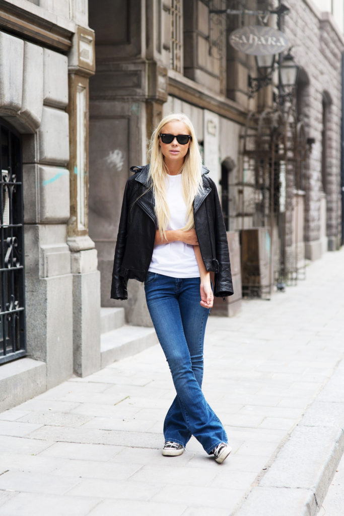 So tomboy, but Victoria Tornegren still manages to look cute  Jacket: FWSS, Shoes: Converse, T- Shirt: Acne, Jeans Asos