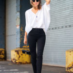Mixing your skinnies with a two tone heel consisting of the same base colour as your jeans and a neutral colour is a great way of making both look great. Via Kelly Framel Jeans/Shoes: Ayr