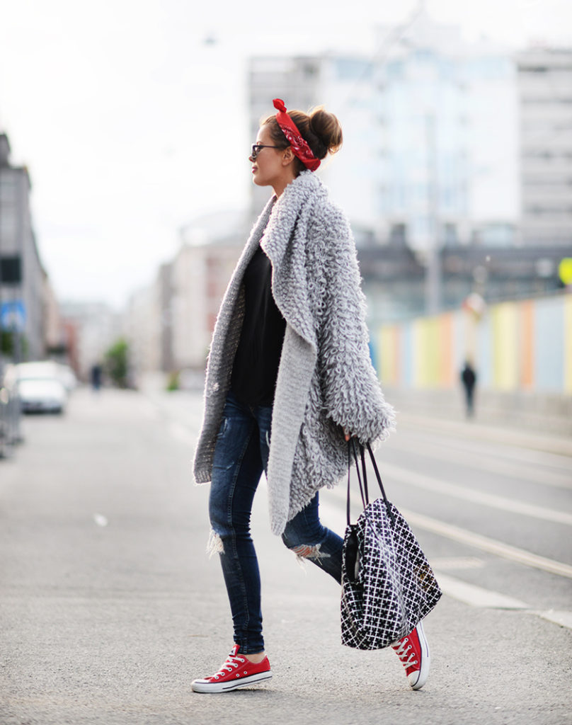 Anette Haga showing off the bandana trend