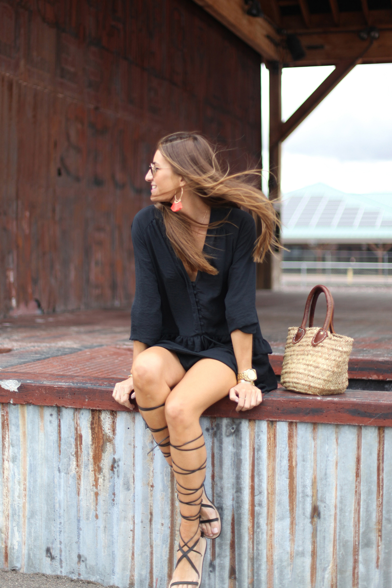 125ee1c15 Knee high gladiator sandals are an absolute winner! Silvia Garcia is  wearing this pair with