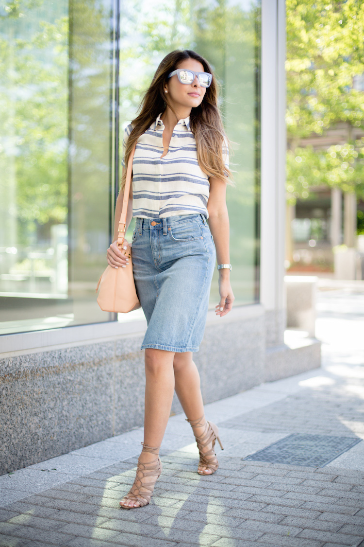 5. denim skirts
