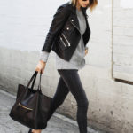 Rocker Outfits: She is probably the ultimate in terms of rocker style. A great example of how to strike the perfect balance between raw and cool. Via Anine Bing. Jacket/Jumper/Jeans/Shoes/Bag: Anine Bing