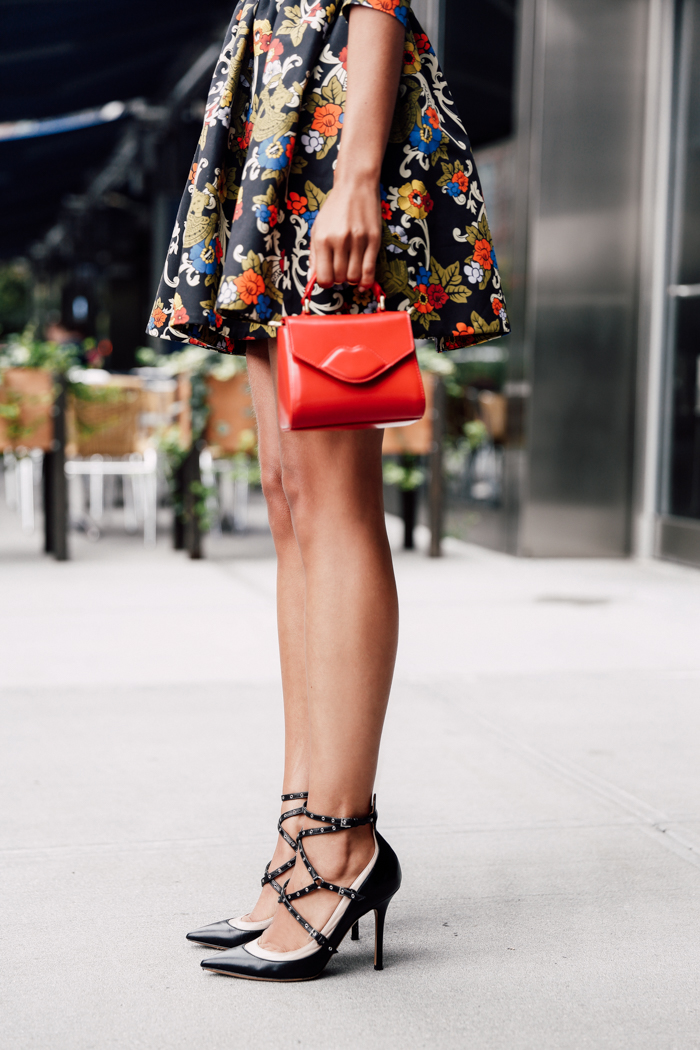 Its the little things which count the most. Pair a cute miniature bag with strappy black heels for a killer look. Via Annabelle Fleur. Brands Not Specified.