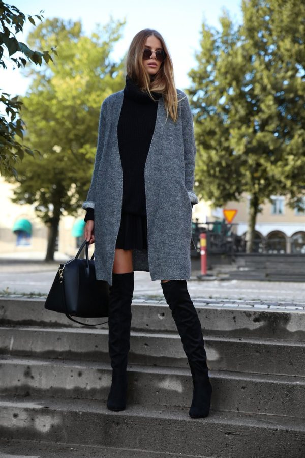 How to Wear Over-the-Knee Boots In Fall
