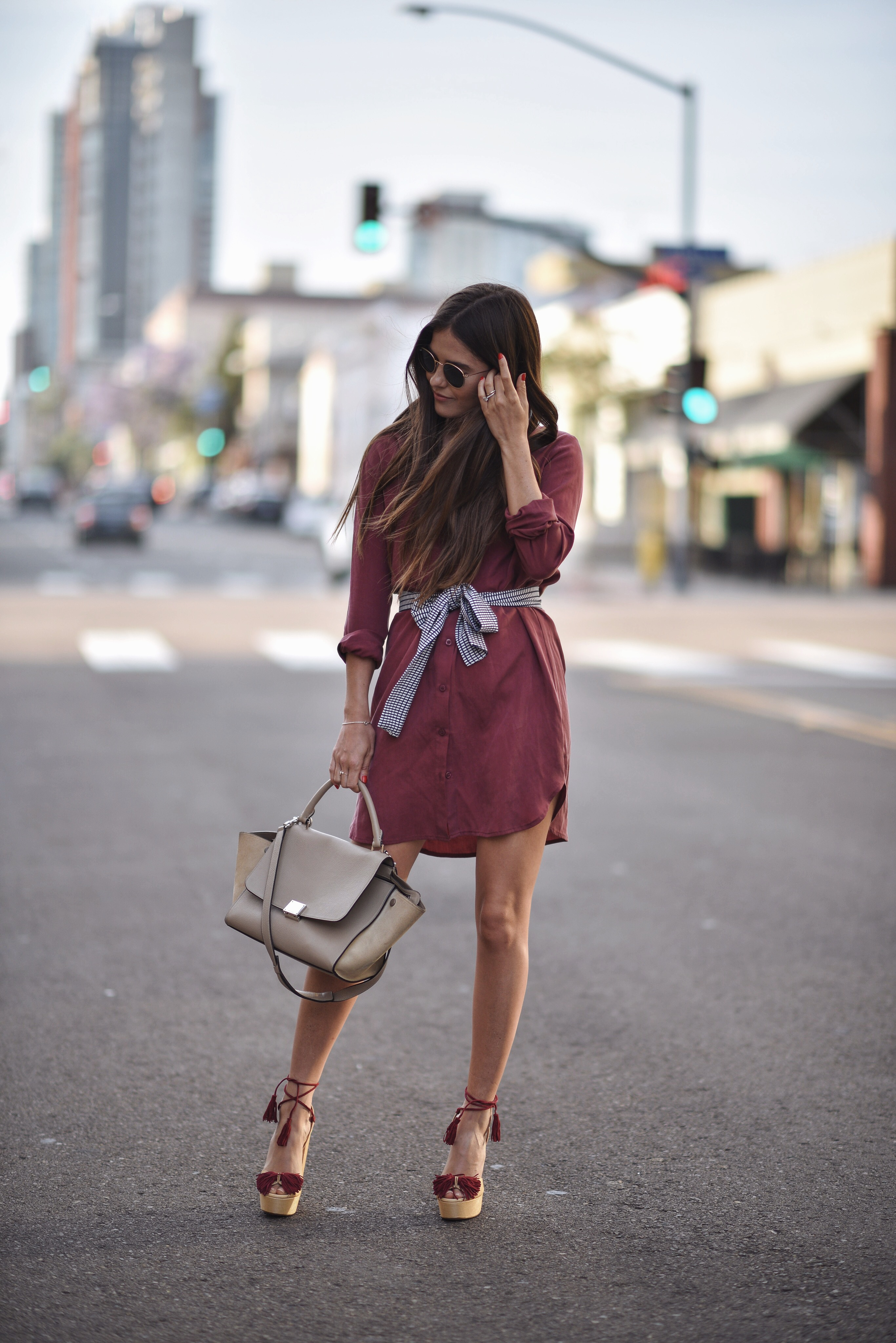 a70571779c7 25 Simple Ways To Wear A Shirt Dress - Outfits   Ideas - Just The Design