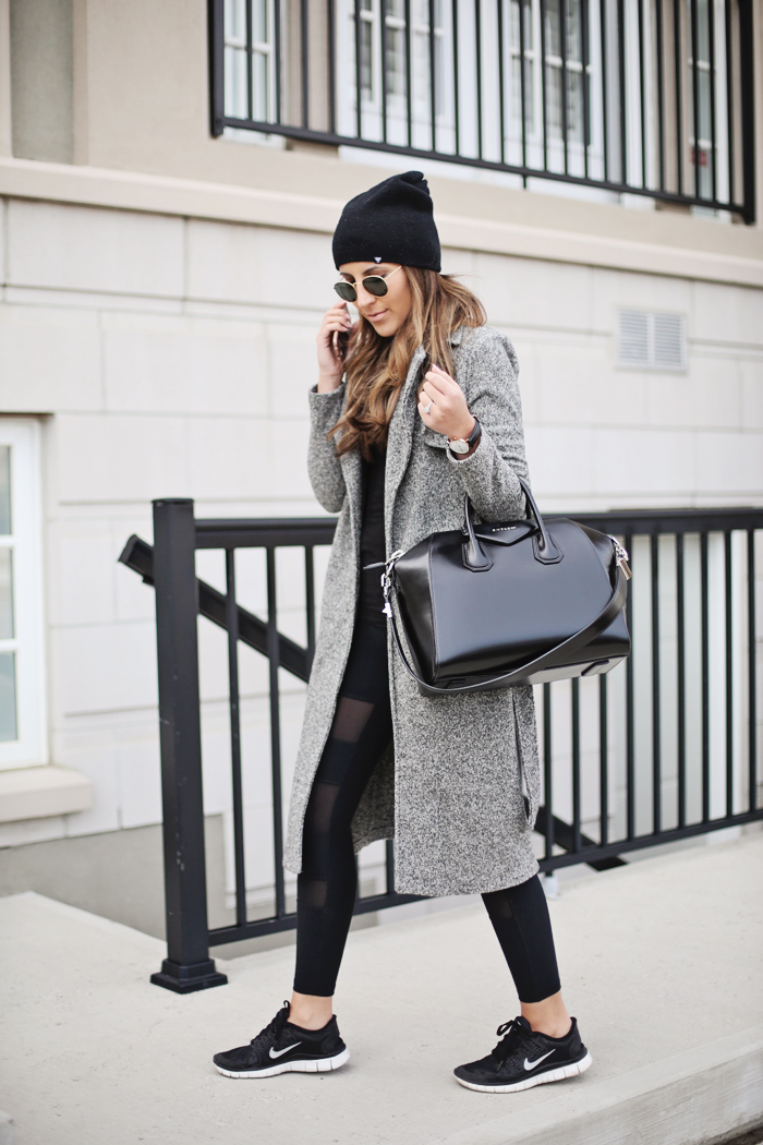 604a1a109d1 Stephanie Sterjovski pairs sporty chic with every day sophistication in  this winter outfit, consisting of
