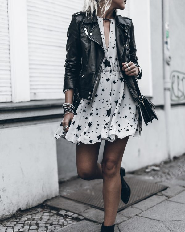 Image result for moto jacket with dress