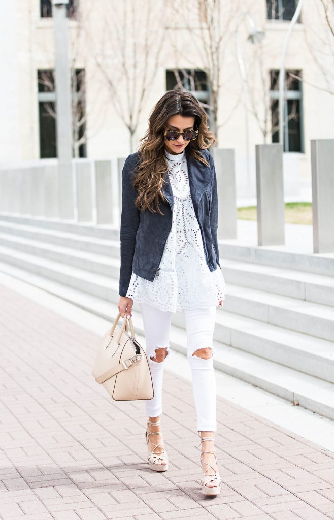 Style Tips On What To Wear With White Jeans The White Jeans Outfit Just The Design