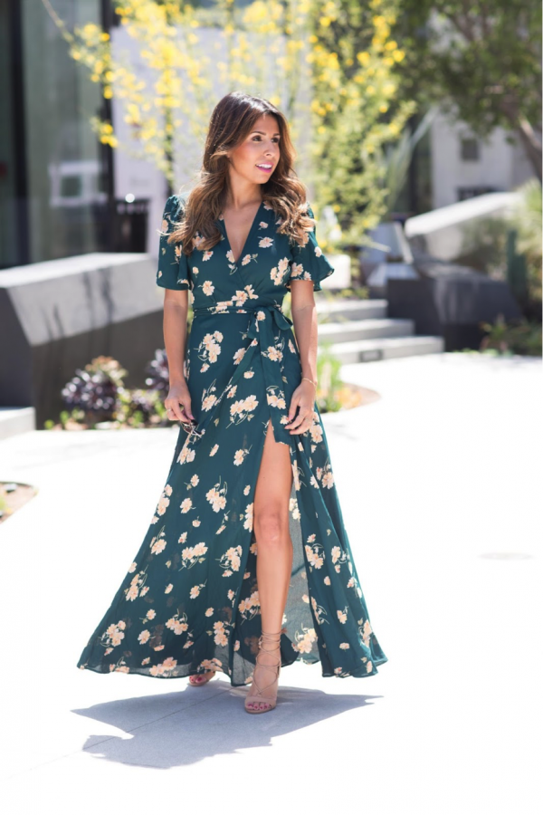 Everyone needs a summer dress to complete their seasonal wardrobe. We adore this one modelled by Ashley Torres; the wrap waist means that it is flattering for all body types, making it an elegant, statement piece. Dress: Privacy Please, Shoes: Steve Madden