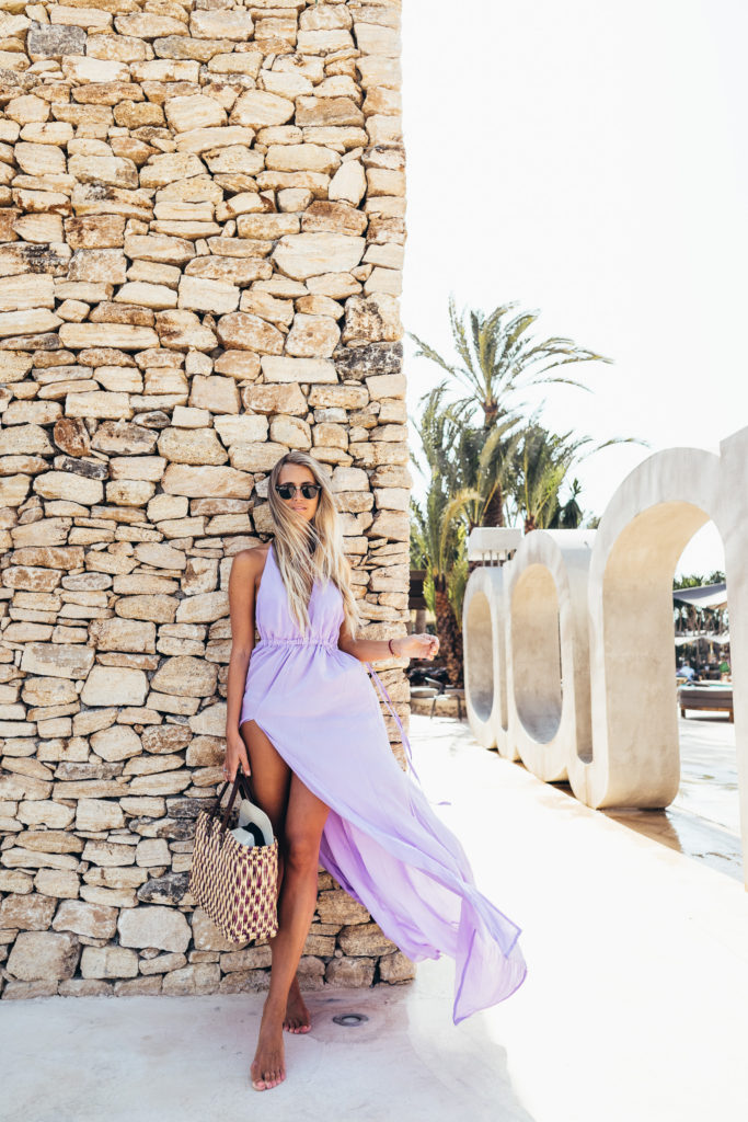 Summer is the season of exploration, so don't be afraid to brighten up your wardrobe. Go bold or go home, like Janni Deler in this sublime summer gown.    Dress: Sisters The Label