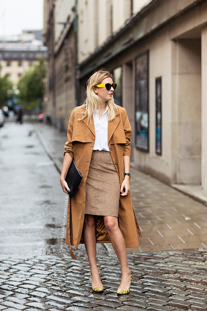 "Doesn't Camille Charriere look ravishing in camel? Aptly named ""camel-athon,"" Camille proves that ""coordination is everything"" with her mix and match neutrals. Create a look that's wild and tame with leopard prints and creamy shades of camel! Skirt: Filippa K, Top: Filippa K, Coat: Monki, Shoes: Jimmy Choo, Purse: Figaros Bryllup, Sunglasses: Celine"